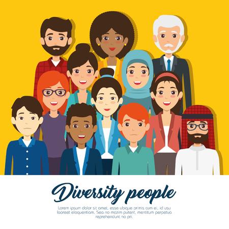 Illustration pour Diversity people concept illustration graphic design. - image libre de droit