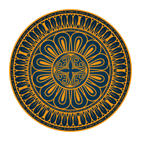 Ilustración de Mandala icon over white background colorful design vector illustration - Imagen libre de derechos