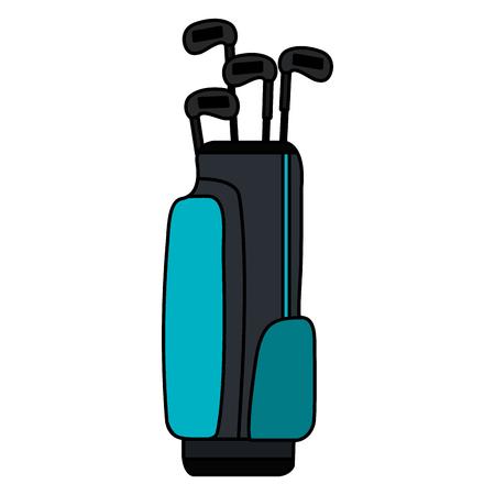 Illustration for golf bag with clubs vector illustration design - Royalty Free Image