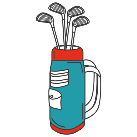 Ilustración de golf bag with clubs vector illustration design - Imagen libre de derechos