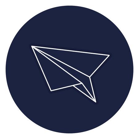 Illustrazione per paper airplane isolated icon vector illustration design - Immagini Royalty Free