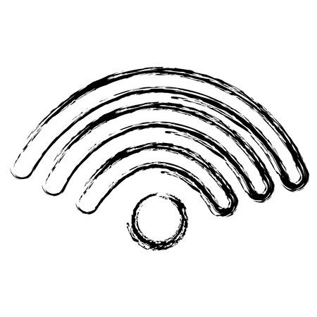 Illustration pour wifi signal isolated icon vector illustration design - image libre de droit