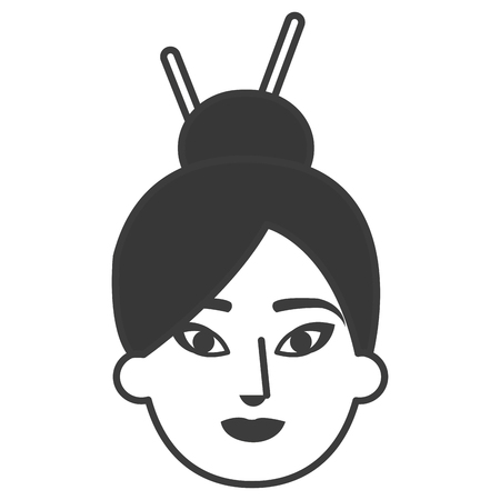 Illustration pour japanese woman avatar character vector illustration design - image libre de droit