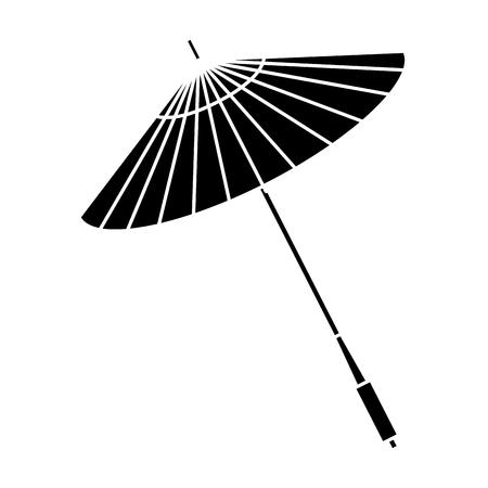 Illustration for japanese umbrella isolated icon vector illustration design - Royalty Free Image