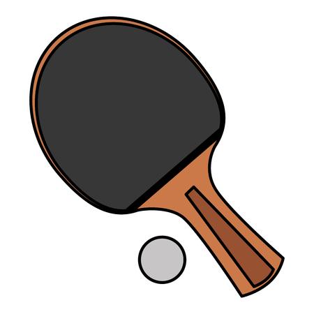 Illustration pour ping pong racket and ball vector illustration design - image libre de droit
