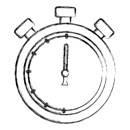 Ilustración de chronometer timer isolated icon vector illustration design - Imagen libre de derechos