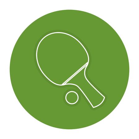Ilustración de ping pong racket and ball vector illustration design - Imagen libre de derechos
