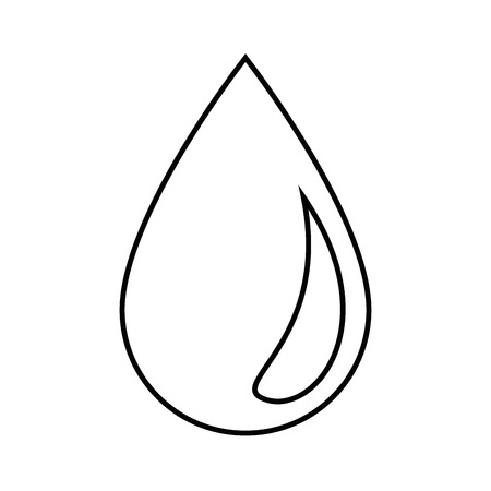 Ilustración de Water drop icon over white background vector illustration. - Imagen libre de derechos