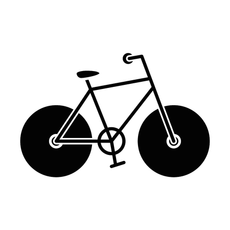 Illustrazione per bicycle icon over white background vector illustration - Immagini Royalty Free