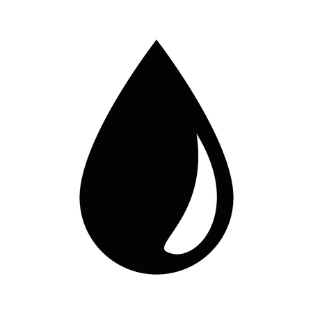 Illustration pour water drop icon over white background vector illustration - image libre de droit