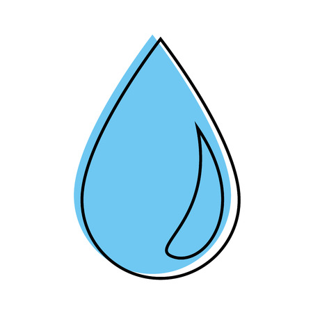 Ilustración de Water drop symbol over white background vector - Imagen libre de derechos