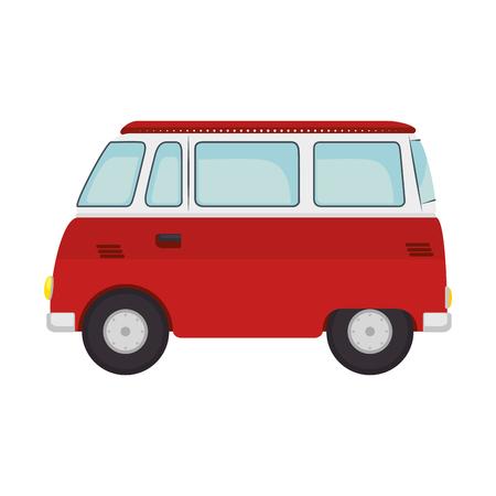 Ilustración de Hippie bus van icon vector illustration graphic design. - Imagen libre de derechos