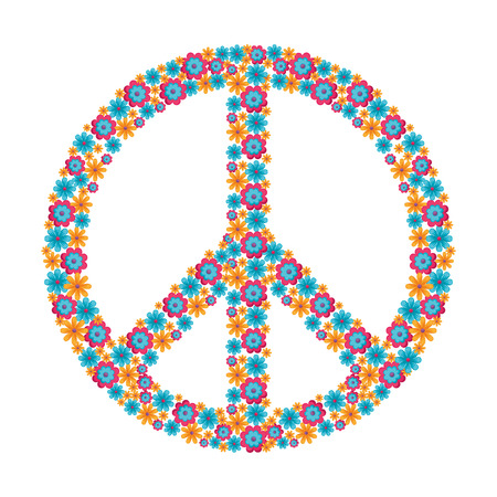 Illustration pour Hippie peace symbol icon vector illustration graphic design - image libre de droit