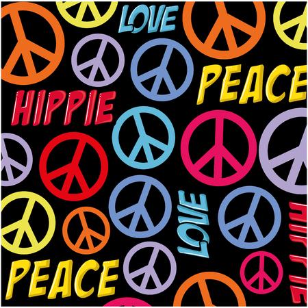 Ilustración de Hippie peace symbol background icon vector illustration graphic design - Imagen libre de derechos