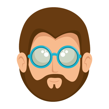Illustration pour Hippie man cartoon icon vector illustration graphic design - image libre de droit