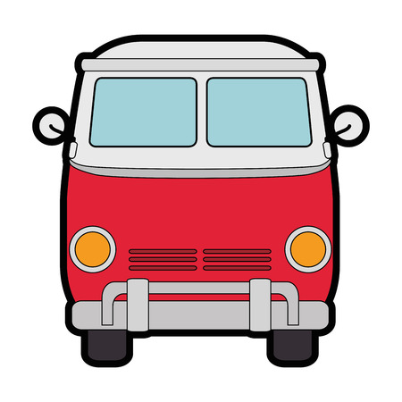 Illustration for Hippie bus van icon vector illustration graphic design - Royalty Free Image