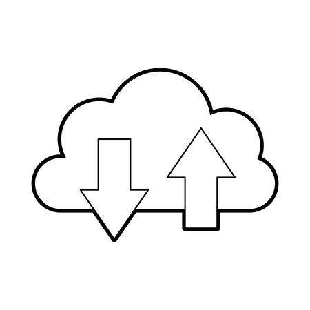 Illustration pour cloud computing with arrows vector illustration design - image libre de droit