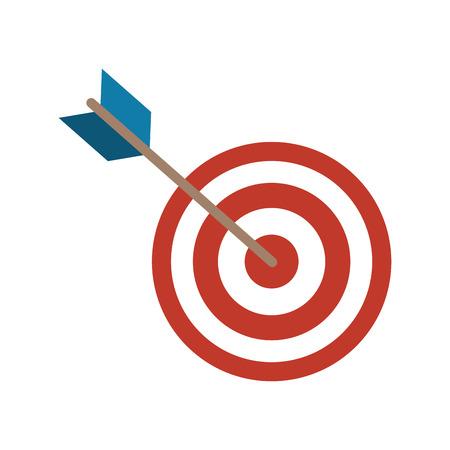 Illustration pour Dart arrow icon over white background - image libre de droit