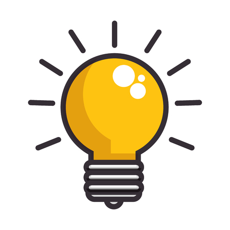 Ilustración de light bulb icon over white background vector illustration - Imagen libre de derechos