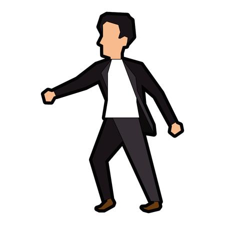 Ilustración de Businessman icon over white background vector illustration - Imagen libre de derechos