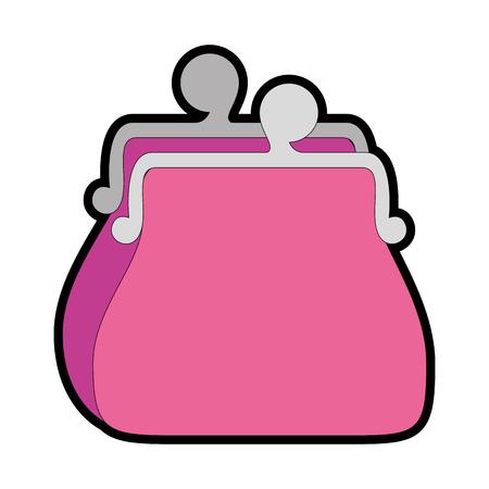 Illustration pour purse icon over white background vector illustration - image libre de droit
