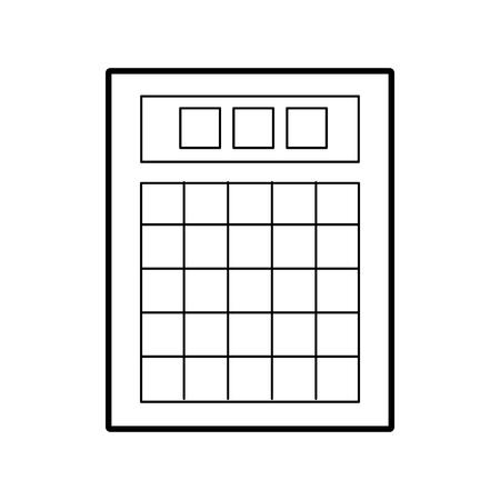 Ilustración de lottery board isolated icon vector illustration design - Imagen libre de derechos