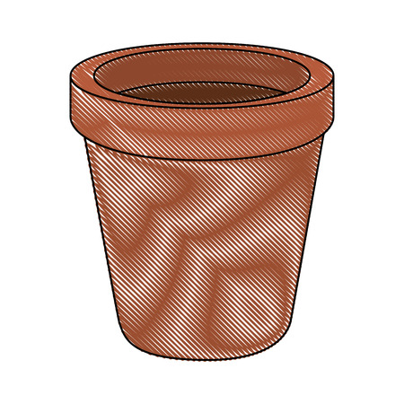 Illustration for Empty plant pot icon vector illustration graphic design - Royalty Free Image