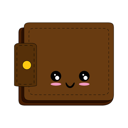 Illustration for Leather wallet symbol cartoon icon vector illustration graphic design - Royalty Free Image