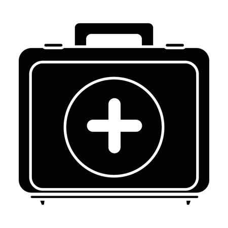Illustrazione per First aid kit icon vector illustration graphic design - Immagini Royalty Free