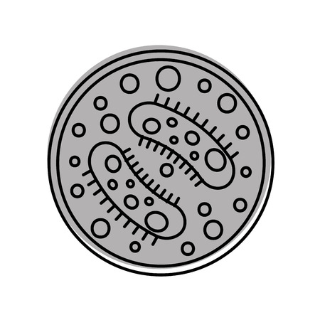 Illustrazione per Study of bacteria icon vector illustration design - Immagini Royalty Free