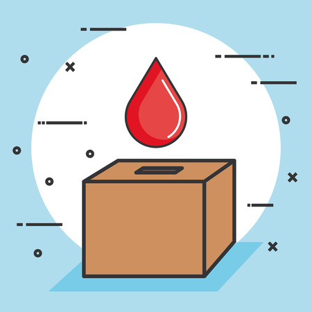 Illustration pour ballot box with a blood drop donation concept vector illustration - image libre de droit