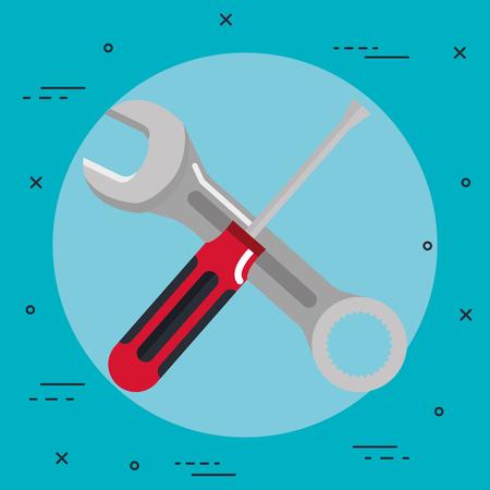 Illustration pour tools repair support construction renovation icons vctor illustration - image libre de droit