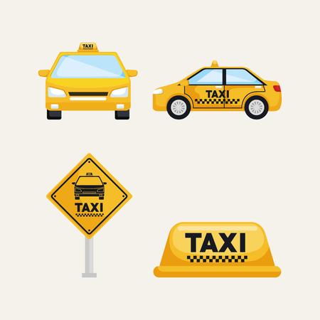 Ilustración de taxi service set transport order internet elements vector illustration - Imagen libre de derechos