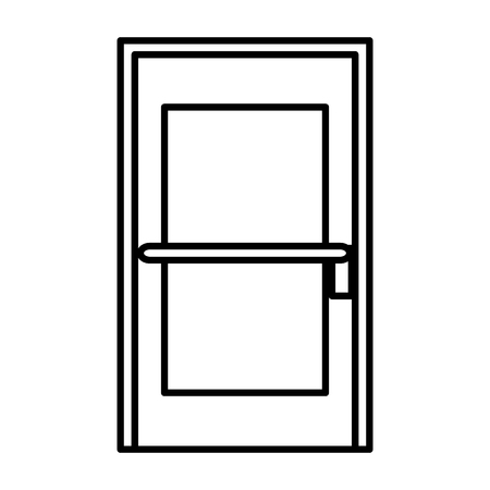 Illustration for room door isolated icon vector illustration design - Royalty Free Image