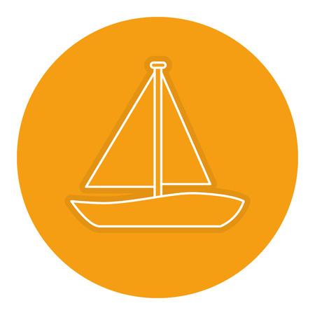 Ilustración de sailboat travel isolated icon vector illustration design - Imagen libre de derechos
