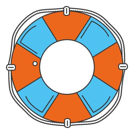 Illustration pour float lifeguard isolated icon vector illustration design - image libre de droit
