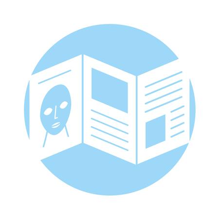 Ilustración de Artistic pamphlet isolated icon vector illustration design - Imagen libre de derechos