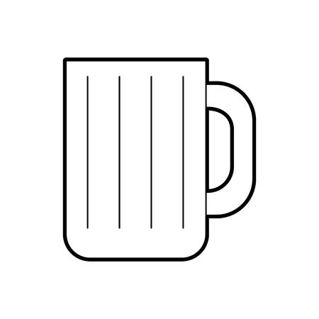 Ilustración de beer jar isolated icon vector illustration design - Imagen libre de derechos