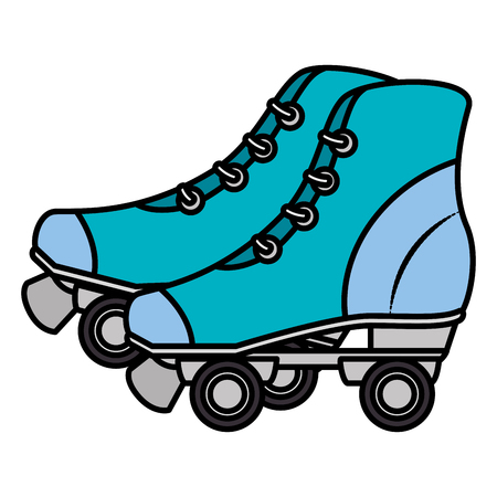 Illustration for Skates old isolated icon vector illustration design - Royalty Free Image