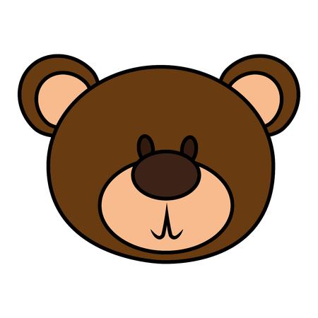 Illustration pour bear teddy isolated icon vector illustration design - image libre de droit