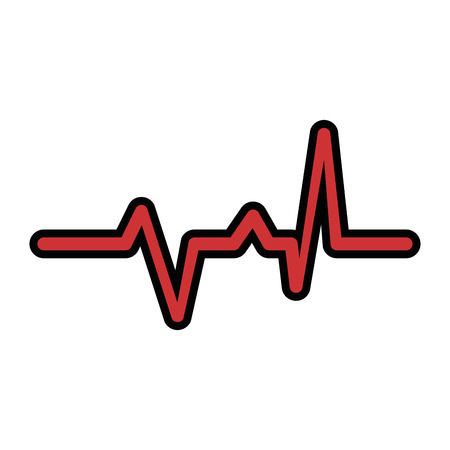 Ilustración de cardio lifeline icon over white background vector illustration - Imagen libre de derechos