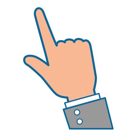 Ilustración de hand pointing icon over white background vector illustration - Imagen libre de derechos