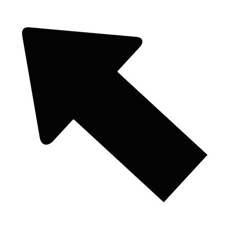 Ilustración de arrow icon over white background vector illustration - Imagen libre de derechos