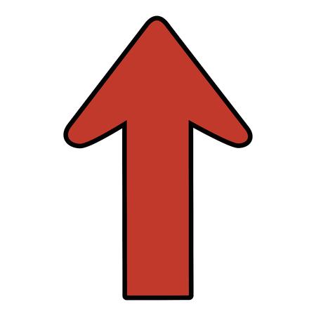 Ilustración de Arrow pointing up icon vector illustration graphic design - Imagen libre de derechos