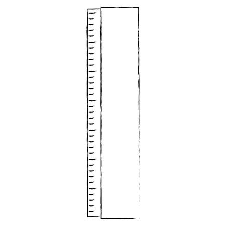 Ilustración de Ruler measure tool icon vector illustration graphic design - Imagen libre de derechos