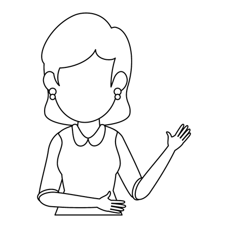 Ilustración de avatar businesswoman icon over white background vector illustration - Imagen libre de derechos