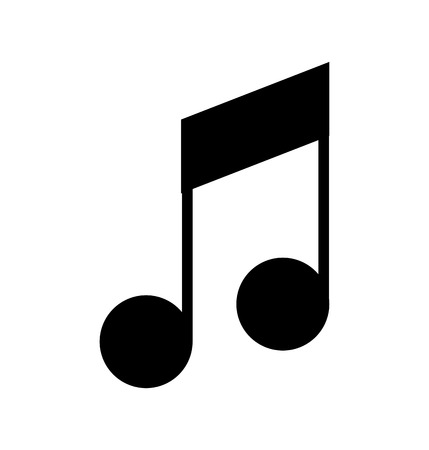 Ilustración de music note isolated icon vector illustration design - Imagen libre de derechos