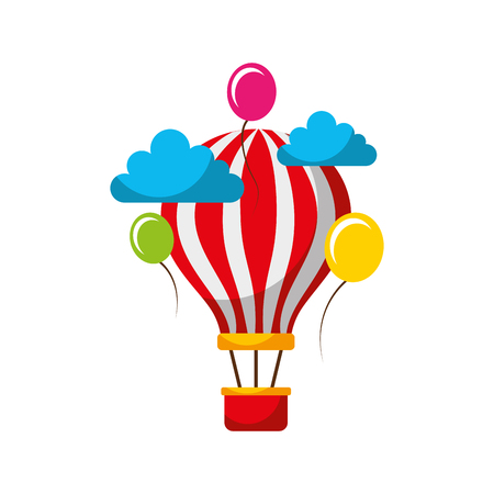 Ilustración de carnival balloon air flying vector illustration design - Imagen libre de derechos