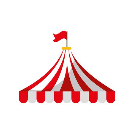 Illustration pour circus tent isolated icon vector illustration design - image libre de droit