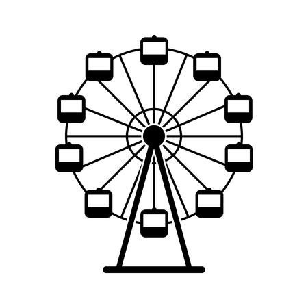 Ilustración de Panoramic wheel isolated icon vector illustration design - Imagen libre de derechos